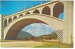 Delaware Water Gap and Old Bridge,Poconos Postcard