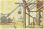 Morris Katz Artwork Construction Postcard p8645