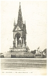 Click here to enlarge image and see more about item p8650: London, The Albert Memorial Postcard