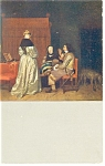 Gerhard Terborch Artwork Vaterliche Ermahnung Postcard