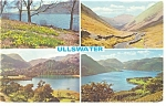 Click here to enlarge image and see more about item p8654: Ullswater UK Four View Postcard p8654
