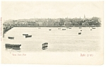 Click here to enlarge image and see more about item p8659: Ryde Isle of Wight UK View from Pier Postcard p8659