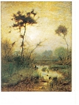 George Inness A Silvery Morning Postcard p8662