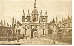 Click here to enlarge image and see more about item p8665: Cambridge King s College Gate UK Postcard p8665