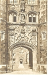 Click here to enlarge image and see more about item p8666: Cambridge St John s College Gate UK Postcard p8666