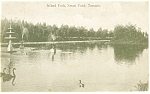 Click here to enlarge image and see more about item p8677: Island Park Swan Pond Toronto Ontario Canada Postcard p8677 1907