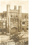 Click here to enlarge image and see more about item p8685: Cambridge Christ College Entrance Gate Postcard