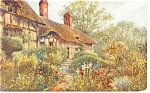 Click here to enlarge image and see more about item p8698: Anne Hathaway s Cottage England Postcard p8698