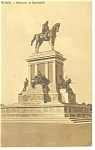 Click here to enlarge image and see more about item p8703: Rome, Italy Monument of Garibaldi Postcard 1914