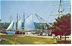 Mystic Seaport  CT Bowdoin Postcard p8711