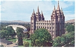 Salt Lake City UT Temple Square Postcard p8758