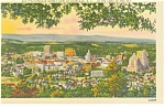 Click here to enlarge image and see more about item p8779: Asheville, NC Sunset View Linen Postcard