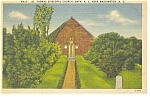 Bath,NC, St Thomas Church Linen Postcard