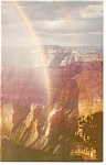 Rainbow on North Rim Grand Canyon, AZ Postcard