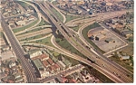 Freeway System Downtown,Los Angeles,CA Postcard