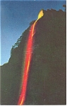 Click here to enlarge image and see more about item p8850: Yosemite, CA , The Fire Fall, Glacier Point Postcard