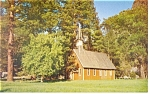 Click here to enlarge image and see more about item p8851: The Church in Yosemite National Park, CA ,  Postcard