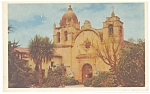 Click here to enlarge image and see more about item p8874: Mission San Carlos, Carmel, CA Postcard