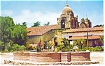 Click here to enlarge image and see more about item p8875: Mission Carmel Carmel CA Postcard p8875