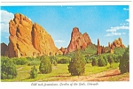 Click here to enlarge image and see more about item p8923: Odd Rocks Garden Of The Gods CO Postcard p8923