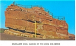 Click here to enlarge image and see more about item p8924: Steamboat Rock Garden Of The Gods CO Postcard p8924