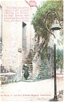 Click here to enlarge image and see more about item p8934: Mission San Gabriel Steps, CA Postcard
