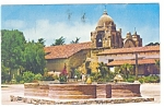 Click here to enlarge image and see more about item p8935: Mission Carmel CA Postcard p8935