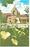 Click here to enlarge image and see more about item p8949: Mission Carmel Moorish Tower CA Postcard p8949