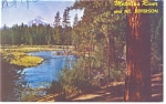 Mt Jefferson and Metolius River,Oregon Postcard
