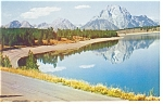 Jackson Lake, WY Postcard