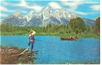 Click here to enlarge image and see more about item p8987: Grand Teton National Park WY Postcard p8987