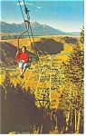 Jackson, WY Chair Lift Postcard