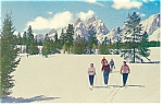 Grand Teton National Park, WY,Skiing  Postcard