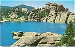 Sylvan Lake Black Hills SD Postcard p8995