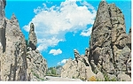 Click here to enlarge image and see more about item p8997: Needles Highway Black Hills SD Postcard p8997