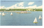 St Petersburg FL One Million Dollar Pier Linen Postcard p9033