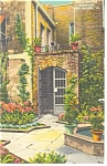 New Orleans,LA, Little Theatre Courtyard Linen Postcard