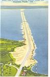Tampa Bay,FL, Davis Causeway Linen Postcard