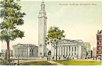 Springfield, MA Municipal Buildings, Postcard