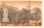Bourgoin France Place Carnot Postcard p9126