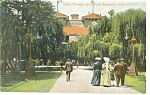 Oakland CA Idora Theatre and Park Postcard p9127