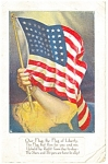 Click here to enlarge image and see more about item p9128: 48 Star Flag Poem Postcard p9128 1917