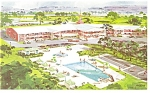 Westport CT New Englander Motel Postcard p9135