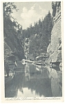 Click here to enlarge image and see more about item p9138: Edmundsklamm, Czech Republic Waterway Postcard