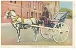 Quebec,Canada, A Caleche Horse Carriage Postcard 1937