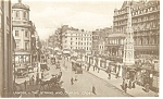 Click here to enlarge image and see more about item p9165: London England The Strand,Charing Cross Postcard p9165