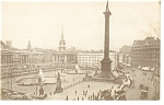 Click here to enlarge image and see more about item p9167: London, England Trafalgar Square Postcard