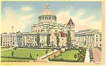 Click here to enlarge image and see more about item p9176: Boston  MA Christian Science Church Postcard p9176