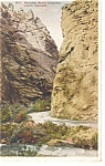 Click here to enlarge image and see more about item p9190: North Cheyenne Canon, Co, The Narrows Postcard 1922