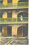 New Orleans LA Courtyard and Prison Rooms Postcard p9212